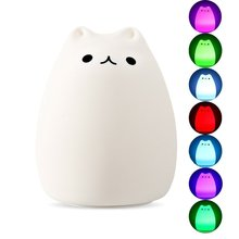 LED Portable USB Rechargeable Multicolor Silicone Night Light