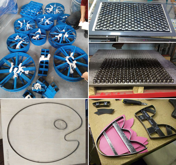 china pu leather / plastic / rubber die cutting mould maker