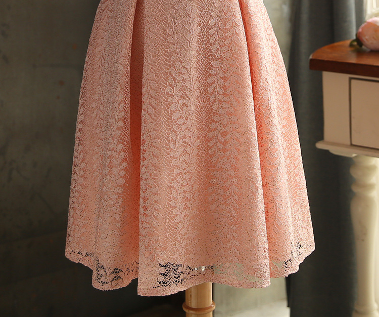 JS 24 High Quality Latest Wedding Gowns Light Peach Color Bridesmaid Sisters Dress 009