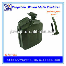 5L auto spare fuel tank/oil drum/gasoline bucket/jerry can