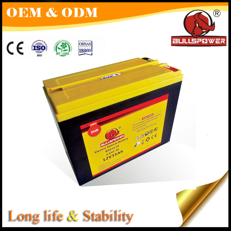 safe and cheap truck battery 12volt 35AH for india auto electric rickshaw