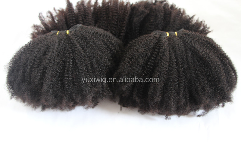 Instock Hot selling Top quality mongolian kinky curly hair weave