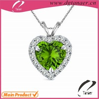 FASHION JEWELRY Stainless Steel Pendant Emerald