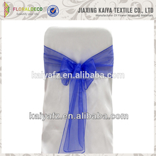 Competitive price organza material colorful chair sash ruffle