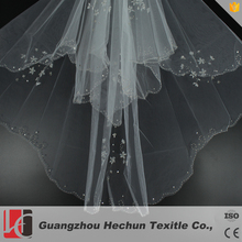 Bigger factory hot sale beaded wedding accessories veil