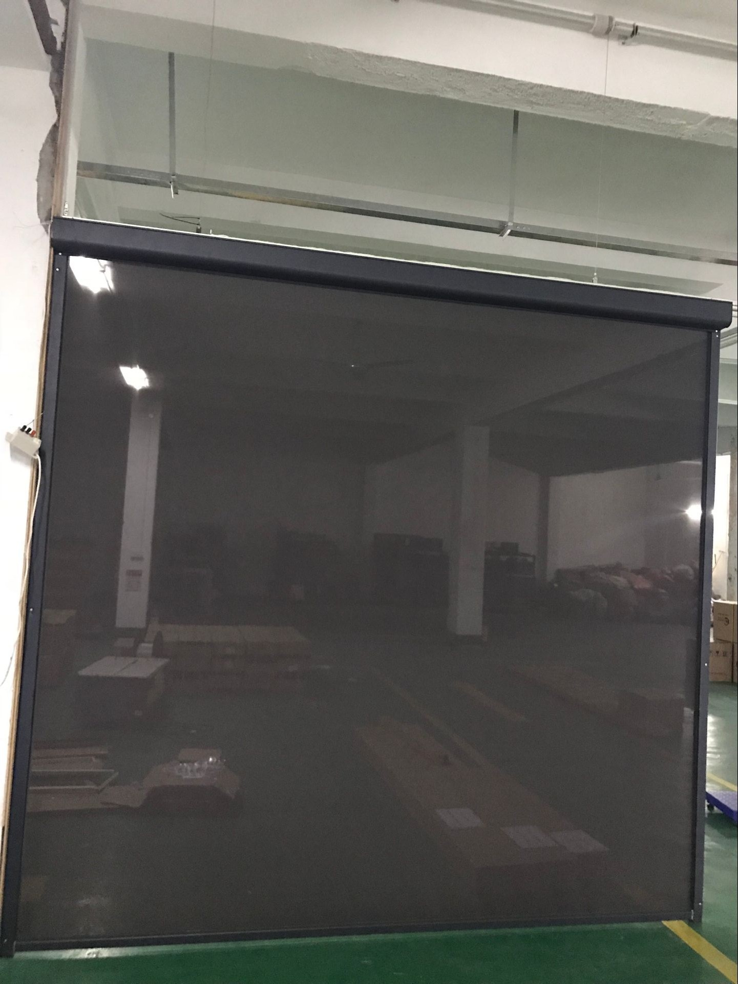 Motorized Outdoor zipper windproof and waterproof roller blinds