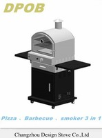Gas pizza oven BBQ with full view front window