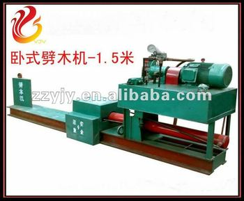 Horizontal hydraulic stump splitting machine