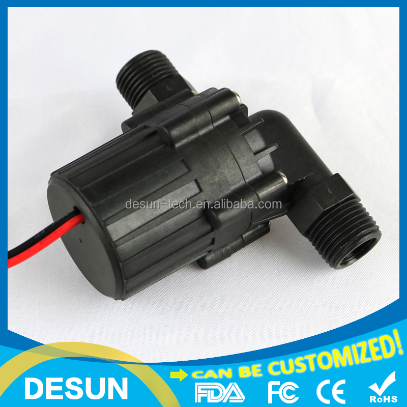12vdc 5M 10L/MIN Life>30000hrs body sustain pressure 6bar 105degC mini High quality Brushless dc water heater pump