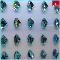 wholesale axe shape colorful flat back sew on glass beads for wedding dress,16*27,11.5*19,8.5*14