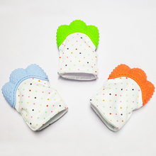 Silicone teether mitten wholesale silicone baby teether mitten toy