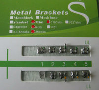 orthodontic good quality mesh base brackets factory manufacturer orthodontic cases