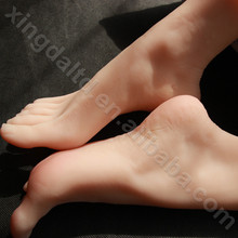 New Japanese realistic lifelike TPE silicone feet male masturbator foot sex toy for man