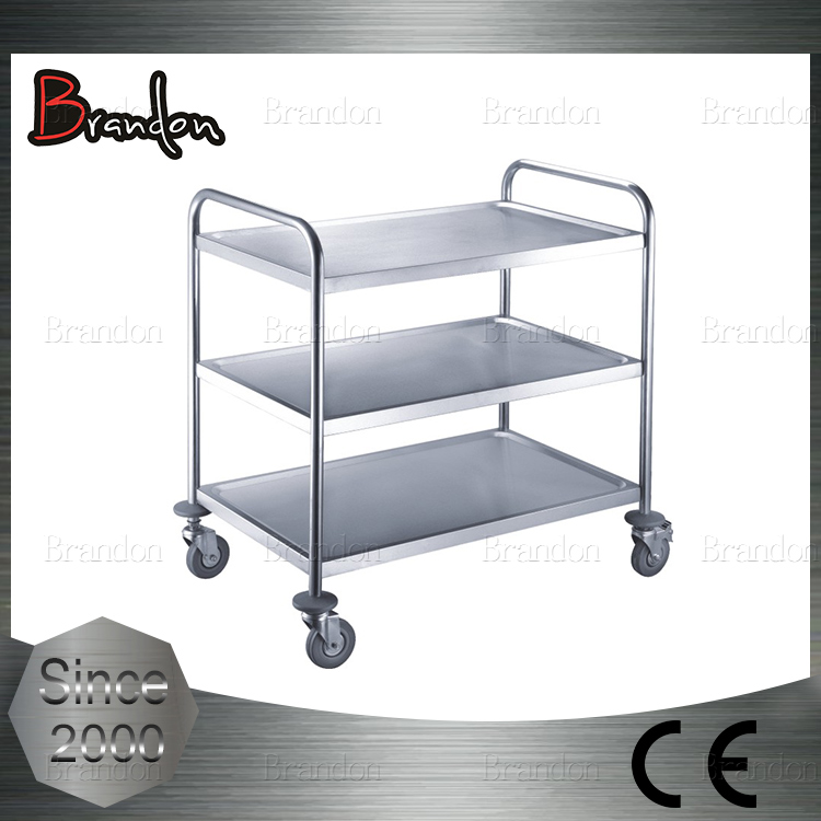 Brandon 3 layers dining serving cart on wheels for easy usage