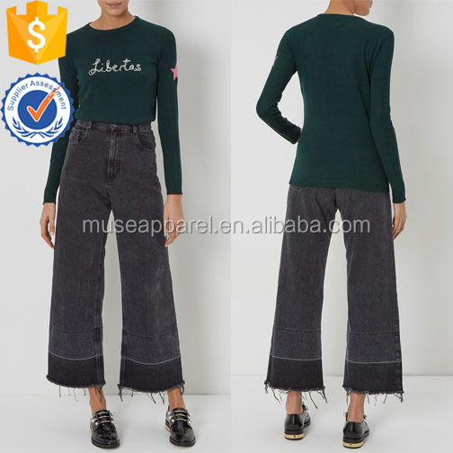 Dark Green Knitted Jumper Women Apparel Wholesaler Garment Clothing