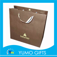 Recycle customized luxury shopping big art kraft paper bag