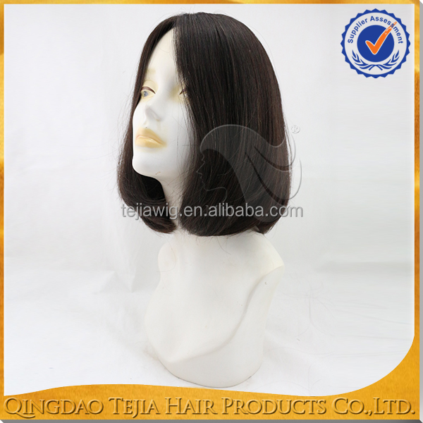 Wholesale human virgin hair hand made full lace wigs jewish wigs natural wave wigs