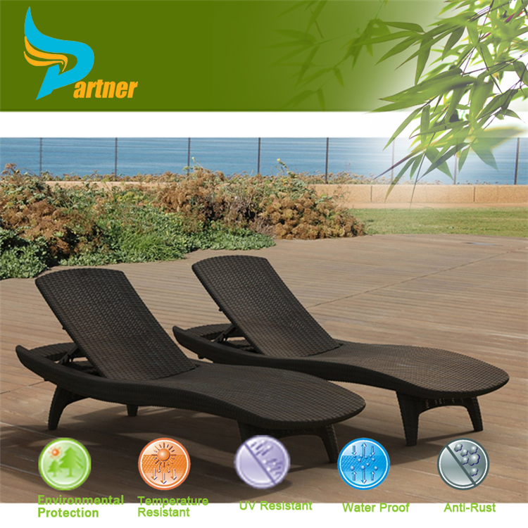 Outdoor Garden Uesd Special Used No Floding Double Chaise Lounge