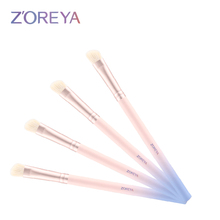 hot selling custom logo pink gradient synthetic hair cosmetic brushes
