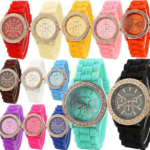 promotion Womans Watches Quartz Jelly Silicone Analog Sports New Ladies Wrist Watch