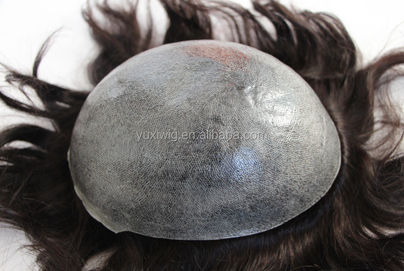 best sale thin skin injected hair men's toupee