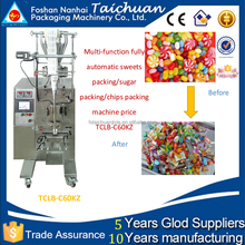 CE approved automatic metering bag filling date printing puffed food powder sachet packing machine TCLB-C60KZ