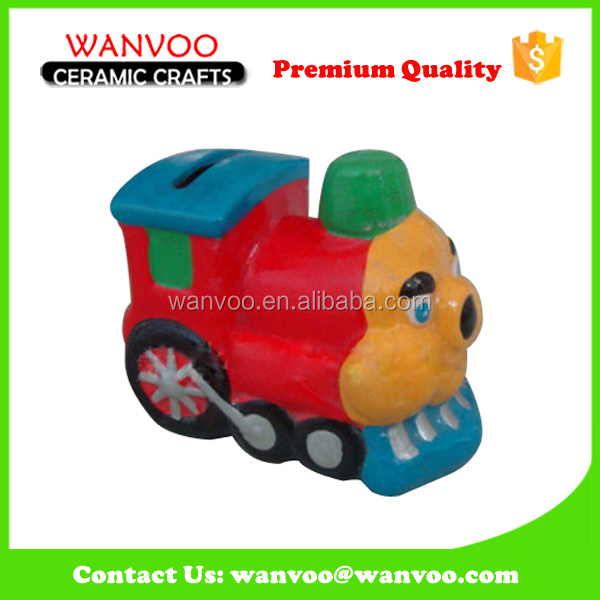 Kids Tool Antique Ceramic Train Money Bank For Sale