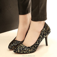 HFR-YS26 2015 new fashion in Europe and America women pointed shallow mouth sequins high heels