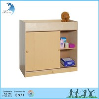 Wooden Montessori Materials,Changing Table with Sliding Doors