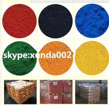 Factory sell green iron oxide and blue pigments for wood plastic