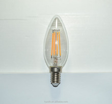 C35 E14 filament candle led bulb dimmable 4W 6W lamp