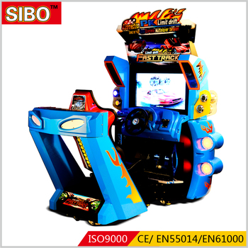 Amusement park simulator arcade racing car game machine