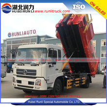 15cbm Refuse Compactor Truck Dongfeng Kingun Hook Lift Truck with Garbage Compactor Station