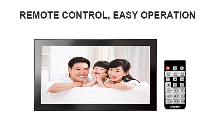 23.8 inch video audio loop play electronic digital photo frame