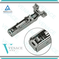 Wardrobe and cabinet clip-on aluminum frame soft closing hinge
