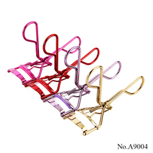 A10003 Wholesale eyelash assist tool 4 colors easily bature curl metal eyelash curler
