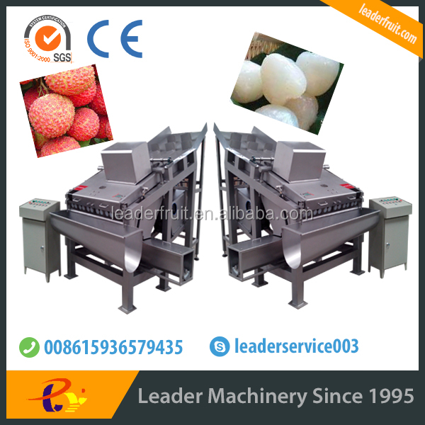 Leader prevailing full automatic stainless steel litchi barking machine