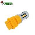 G-View China car parts led light supplier 3157 amber colo changingr car led light bulb