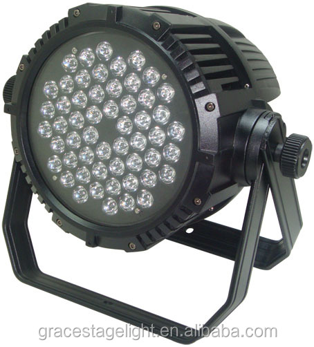 stage light 54*3w waterproof led light rgba led flat par light