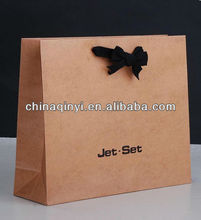 craft paper bag,fashion gift packaging with handle Cutomized Promotional Paper Pag