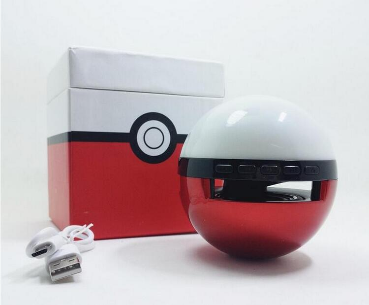 Magic Ball 450mah Portatil Altavoz Bluetooth Pokemon Speakers with LED