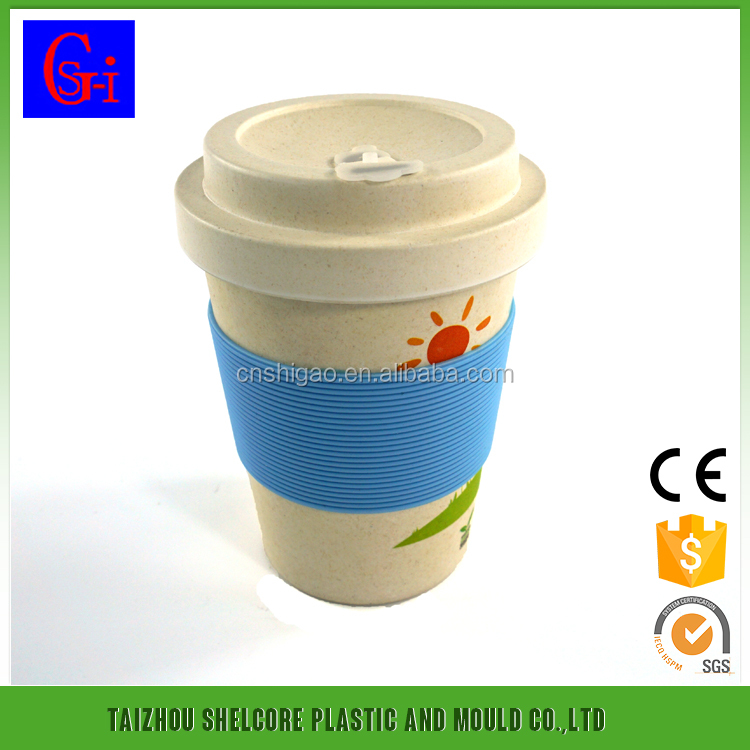 Promotional Bamboo fiber coffee cups reusable coffee cupBamboo Fiber Travel Mug Biodegradable Coffee Cups