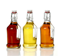 Glass oil and vinegar bottles cruet set with stopper