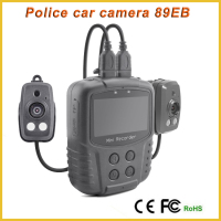 89EB external dual cam police car camera car blackbox camera portable dvr with GPS/GSM car vehicle camera video recorder
