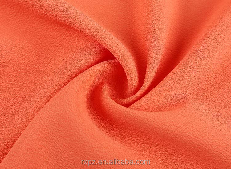 High quality false twist 100 polyester chiffon moss crepe fabric