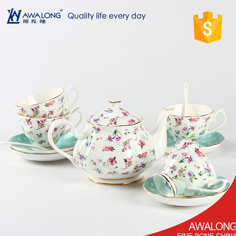 9pcs Grace Porcelain Tea Gift Set / Wedding Coffee and Tea Set Chinese