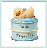 Baby keepsake box baby's first curl or first tooth