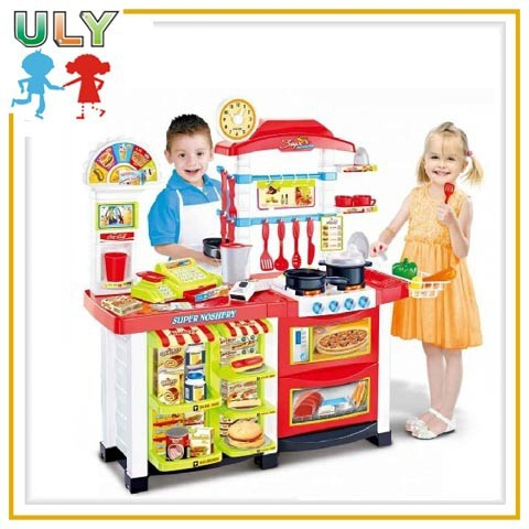 Wholesale kids pretend kitchen plastic play food sets cooking toy