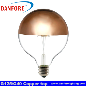 G125 shadowless globe led bulb with copper top
