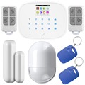 Kerui KR-G19 Wireless Home Security GSM Alarm System DIY Kit With RFID Card and APP Control Function